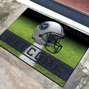 FANMATS Tennessee Titans Crumb Rubber Welcome Door Mat