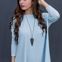 Down By the Sea Top in Blue