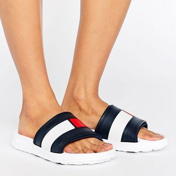 Tommy Hilfiger Flag Slider Sandals at asos.com