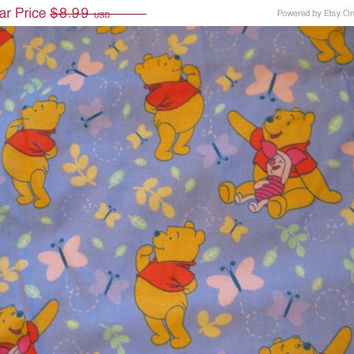 15% Off Sale 1 Yd. Adorable Winnie The Pooh, Piglet, And Butterfly Cotton Quilt Fabric Craft Supplies