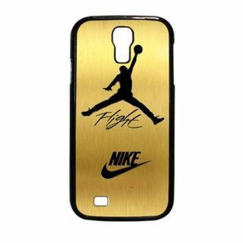 CREYUG7 Nike Jordan Flight Jump In Gold Texture Samsung Galaxy S4 Case