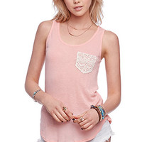 LA Hearts Crochet Pocket Tank at PacSun.com