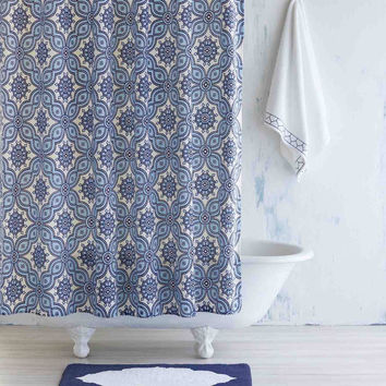 Petra Light Indigo Shower Curtain by John Robshaw