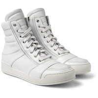 Balmain - Leather High-Top Sneakers | MR PORTER