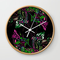 Swan Floral Wall Clock by ES Creative Designs