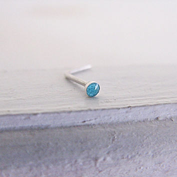 Nose Stud Sterling Silver Turquoise