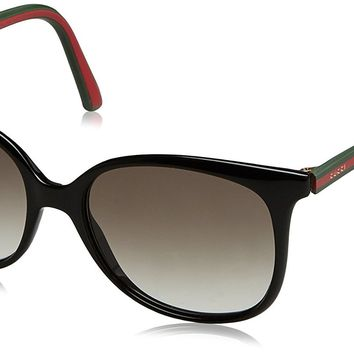 Gucci Sunglasses - 3649 / Frame: Shiny Black Lens: Green Gradient