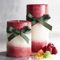 Candy Apple Layered Pillar Candles