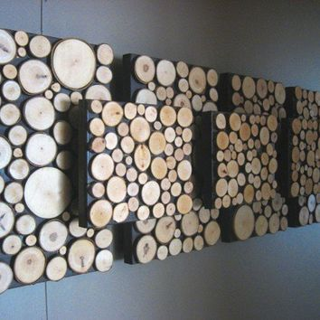 Rustic Modern Wall Art Wood Sculpture by ModernRusticArt on Etsy