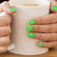 Bright Green Mosaic Design