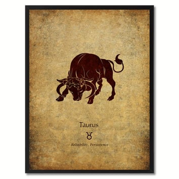 Taurus Horoscope Astrology Canvas Print, Picture Frame Home Decor Wall Art Gift