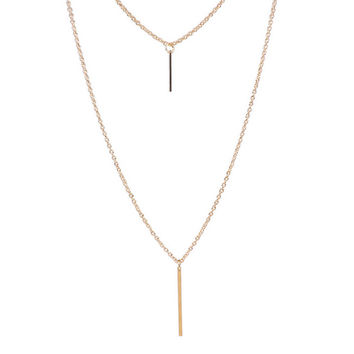Casual Basic Layered Long Necklace