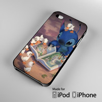 Lilo & Stitch Hawaiian island of Kauawi Reading with Ducklings iPhone 4S 5S 5C 6 6Plus, iPod 4 5, LG G2 G3, Sony Z2 Case