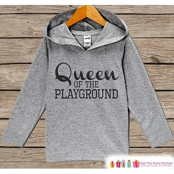 Girls School Outfit - Queen of the Playground - Back to School Pullover - Kids School Top - Kids Hoodie - School Outfit for Toddler Girls