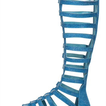 Espadrille Denim Gladiator Sandal- FINAL SALE
