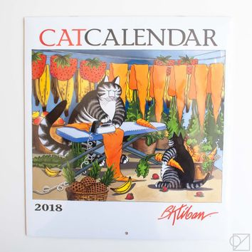 B. Kliban 2018 Cat Wall Calendar