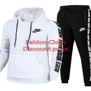 Nike Sweater Unisex Sport Casual Style Clothing S-3XL 91968 White Black