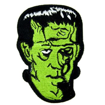ac spbest Classic Monster Movie Frankenstein Patch Iron on Applique Clothing Creature Feature