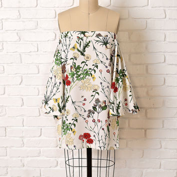 Vida Floral Off-The-Shoulder Blouse