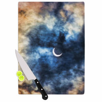 "Bruce Stanfield ""Night Moves"" Blue Orange Cutting Board"