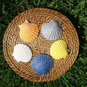 Glittered Sea Shells - In Stock Same day shipping