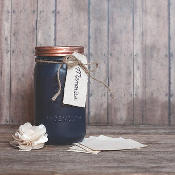 Memory jar. Painted mason jar, mothers day gift, colored jars, family gifts, gifts for love, unique wedding gift