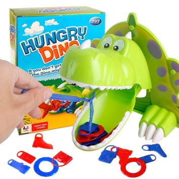 Hungry Dino Hot Hunger Jokes Mouth Dentist Bite Finger Funny Board Table Game Joke Dinosaur Toys for Children Family Party Play