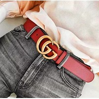 GUCCI  Fashion Sleek Buckle Leather Belt