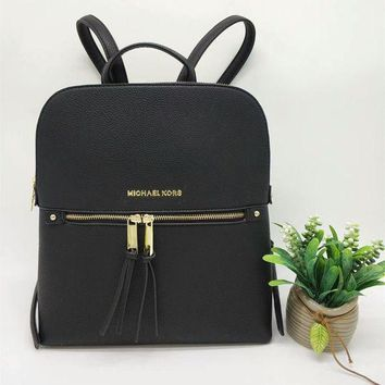ONETOW Michael Kors' Simple Fashion All-match Backpack MK Women Double Shoulder Bag