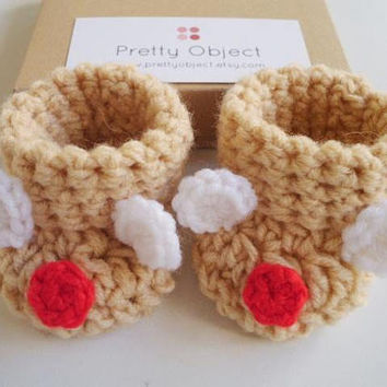 Crochet baby booties Baby bear booties Beige baby shoes Bear shoes Baby shower gift Baby girl booties Baby boy booties New baby gift