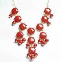Bubble Necklace,Statement Necklace, Bubble Jewelry(Fn0508-Red) | AihaZone Store