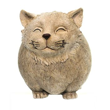 Home & Garden Cat Garden Statue Pudgy Pals Outdoor Decor