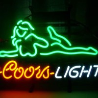 Coors Light Nude Girl Neon Sign