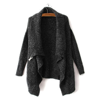 Fashion Womens Black Winter Warm Comfortable Cardigan Sweater