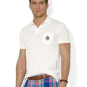 LMFIW1 Polo Ralph Lauren Heritage Crest Pocket Polo Shirt