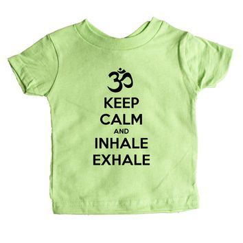 Keep Calm And Inhale Exhale (OM) Baby Tee