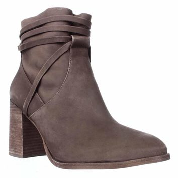 Steve Madden Percy Block Heel Ankle Boots, Taupe, 6.5 US