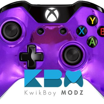 Purple Chrome Xbox One Controller
