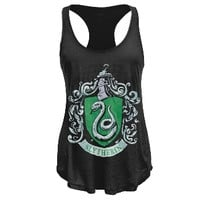 Harry Potter - Slytherin Crest Racerback Juniors Tank Top | OldGlory.com