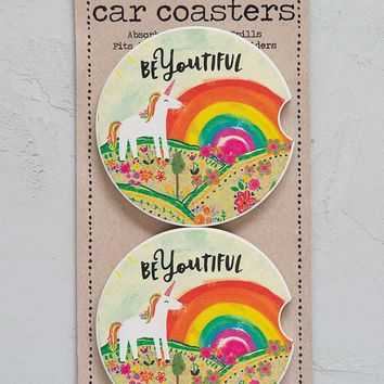 BeYOUtiful Set of 2 Car Coasters