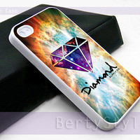Iphone Case - Iphone 4 Case - Iphone 5 Case - Samsung s3 - samsung s4 - Diamond Supply Co Logo Galaxy - Photo Print on Hard Plastic