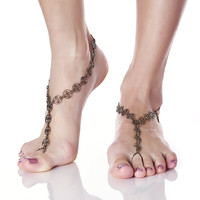 ZODIAC Filigree Naked Sandals - Bronze