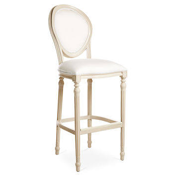 Melrose Outdoor Barstool, Beige/White, Outdoor Bar & Counter Stools