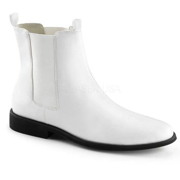 Pleaser Male 1 Inch Flat Heel Pointed Toe Pull-On Chelsea Boot TRO12