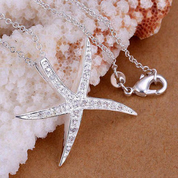 Salty Sultry Starfish Bling Necklace
