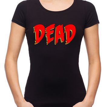 DEAD Blood Red Horror Style Women's Babydoll Shirt Occult Clothing