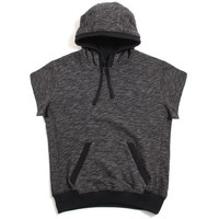 Carlton Short Sleeve Pullover Hoody Black