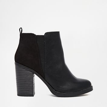 New Look Eddie Black Heeled Chelsea Boots