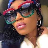GUCCI Popular Women Men Summer Style Sun Shades Eyeglasses Glasses Sunglasses Red/Green I12378-1