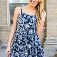 Take Me Swing Dancing Navy Dress